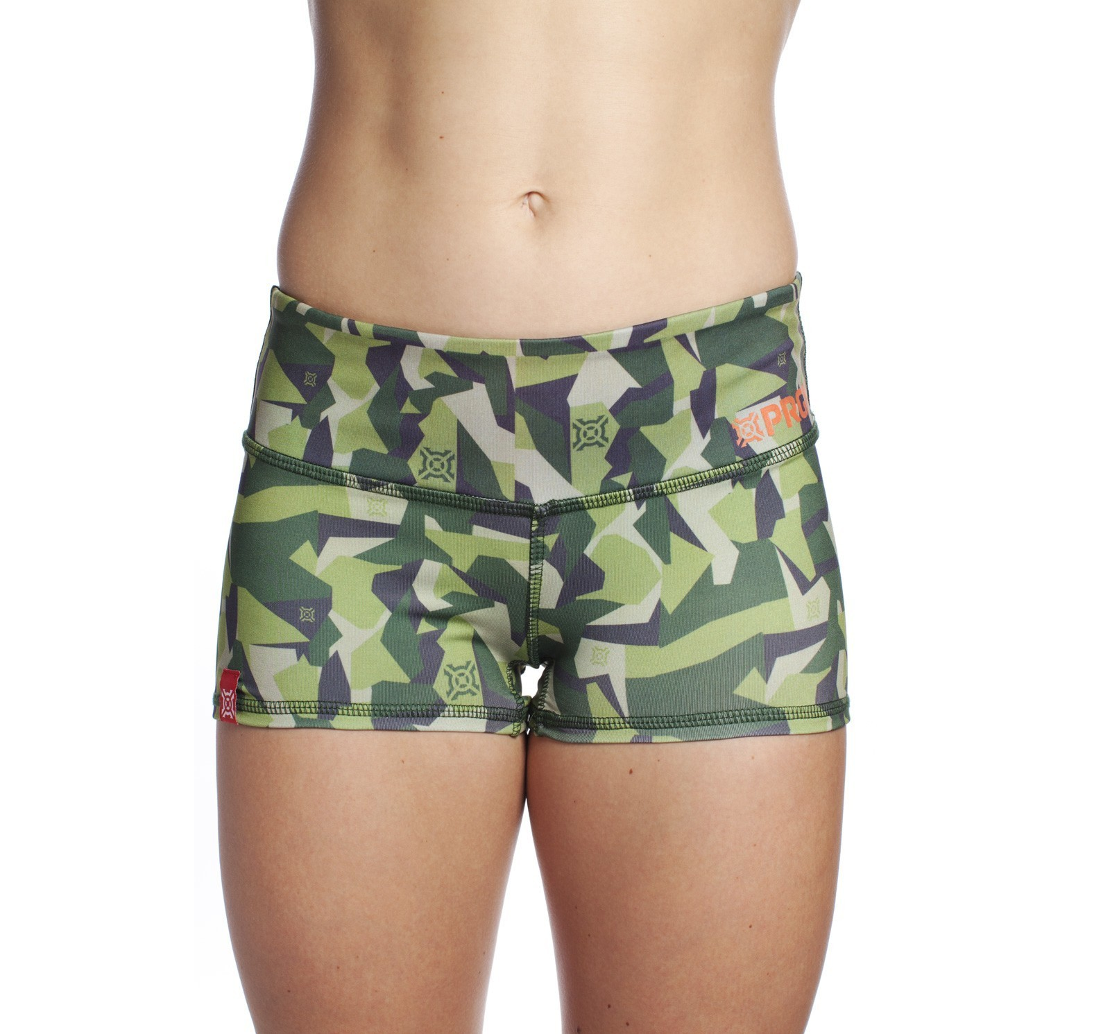 Booty Shorts Ladies Icon Woodland front