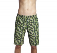 Muscleville Shorts Men Icon Panel Woodland