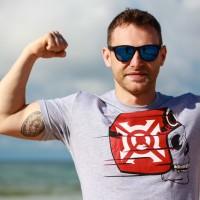 T-shirt Casque Moto Homme
