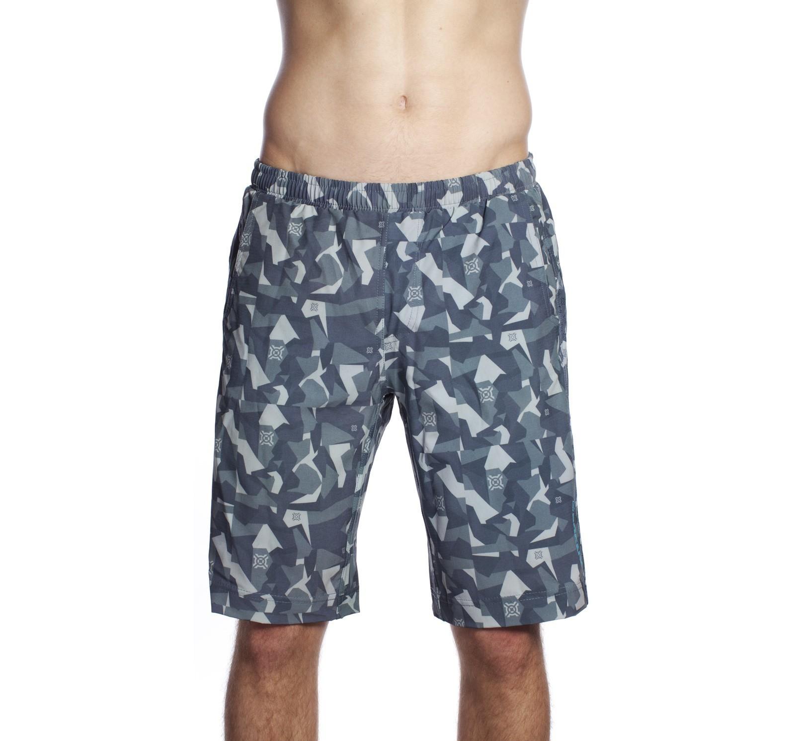 Muscleville Shorts Men Icon Panel Asphalt